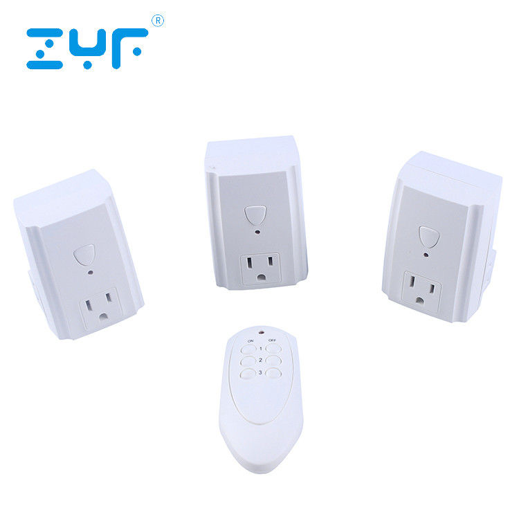 80 Feet Range Wireless Electrical Outlet Switch 5A Rated Current For Lamps / Power Strips